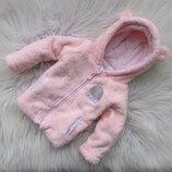 Стильная теплая кофта свитер реглан с капюшоном и ушками Early Days by Primark