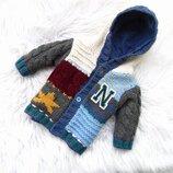 Стильная теплая кофта свитер реглан бомбер с капюшоном Next