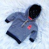 Стильная кофта свитер реглан бомбер с капюшоном George