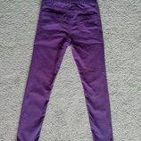 Фиолетовые джинсы скинни h&m, размер 146,сбоку застежка