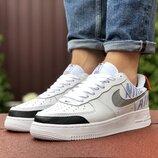 Кроссовки мужские Nike Air Force, белые 9448