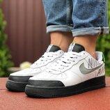 Кроссовки мужские Nike Air Force, белые с черным