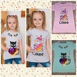 Детская футболка с надписью Likeе,ТIK TOK