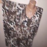 5 XL 54-56 блуза вискоза большой размер Okay рукав от шеи 40 под подмышками застрочено на 81 полуобх