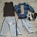 Пакет одежды на мальчика 9-12 мес комплект костюм