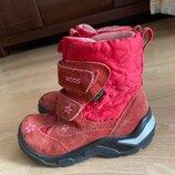 Сапоги зимние 17.5 см стелька 27 рр Ecco фирменные обувь красные