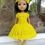 Яркое летнее платье с повязочкой для куклы Паола Рейна