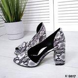 к-2017 Открытые туфли - Miore материал верх- натуральная кожа. Внутренняя часть кожаная цвет grey