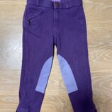 Конный спорт Штаны 116 см детские Фиолетовые EQUIPAGE