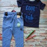 Костюм george тонкие трикотажные штаны и футболка