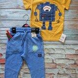Костюм george 86-92 тонкие трикотажные штаны и футболка