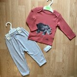 Легкий костюм, кофта и штаны для мальчика Marks & Spencer, размер 12-18 м и 18-24 м