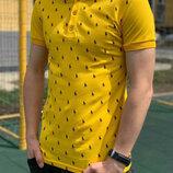 Мужская футболка поло, ткань трикотаж лакоста, Турция