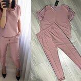 Женский костюм футболка и брюки 24-60 размер Хит продаж