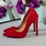 Женские замшевые туфли-лодочки