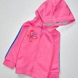 F&F. Розовая с бабочкой и лампасами на рукавах кенгурушка. Состояние новой, 3-6 мес