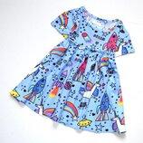 Next. класснючее платье с единорогами на 6-9 мес. рост 73 см