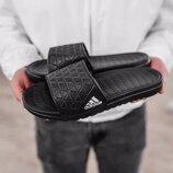 Мужские тапки Adidas Slippers Black | 41-45.