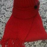 Набор шапка берет шарф