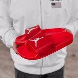 Мужские тапки Jordan Slippers Red   41-45.