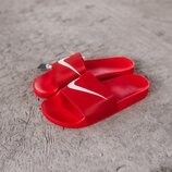Мужские тапки Nike Slippers Red   41-45.