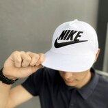 Кепка Nike мужская | женская найк белая big black logo
