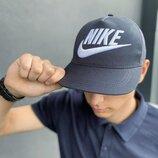 Кепка Nike мужская | женская найк серая big white logo