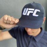 Кепка UFC Reebok мужская | женская рибок серая big white logo