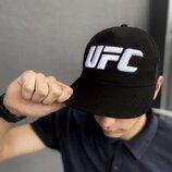 Кепка UFC Reebok мужская | женская рибок черная big white logo