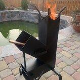 Ракетная дровяная печь походная