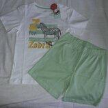 Летний комплект, костюм Zippy Португалия Шорты и футболка