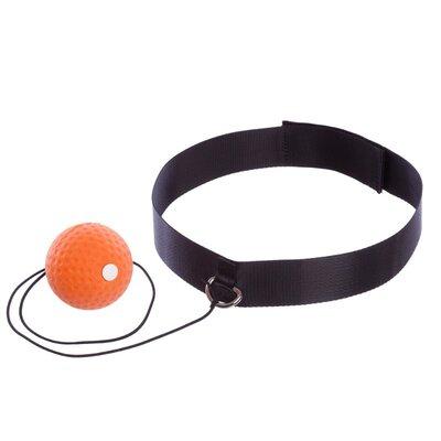 Теннисный мяч на резинке боксерский Fight Ball 3917 с повязкой на голову пневмотренажер