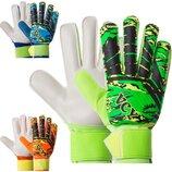 Перчатки вратарские юниорские с защитными вставками на пальцах Premier League FB-931B размер 5-7