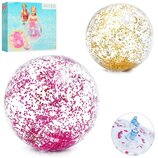 Пляжный мяч Intex 58070 Прозрачный блеск, 71 см, золотой, розовый