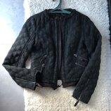 Утепленная куртка S/M 44 жакет 60% шерсти