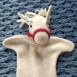 Игрушка перчатка для кукольного театра лошадка