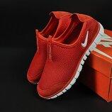подростковые кроссовки Nike Free красные 37-41р