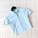 Джинсовая рубашка топ TOPSHOP