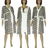 Комплект в роддом Халат и Ночная рубашка Сорочка для беременных и кормящих 42-44-46-48-50-52-54-56