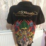 Эксклюзивная дизайнерская футболка поло Ed Hardy by Christian Audigier