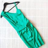 Атласное платье River Island зеленого цвета