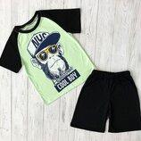Комплект футболка и шорты, рост 128, 134, 140, 146 см, арт.ML-003-GOOL BOY-B