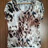 Женская футболка Dex США , новая, леопард, вискоза, размер S