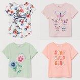 Детские футболочки на девочек h&m