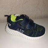 Легкие кроссовки на мальчика 21-26 р Kimboo, кросовки, кросівки, джон, сетка, кимбо, синие