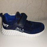 Легкие кроссовки на мальчика 26-31 р Kimboo, кросовки, кросівки, джон, сетка, кимбо, летние, синие