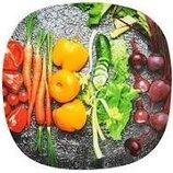 Тарелка Овощи квадратная