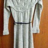Платье клеш вязаное миди хс-с-м