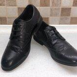 Кожаные туфли броги Next р. 39 -40
