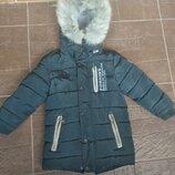 Зимнее пальто пуховик 104-110см.